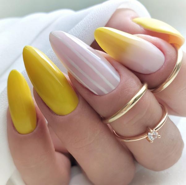 Paznokcie Żółte pazurki
