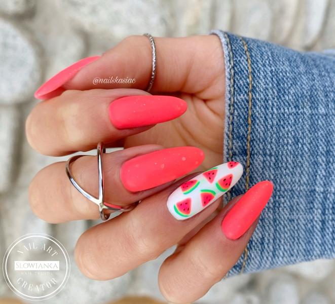 Paznokcie Arbuziki na paznokciach