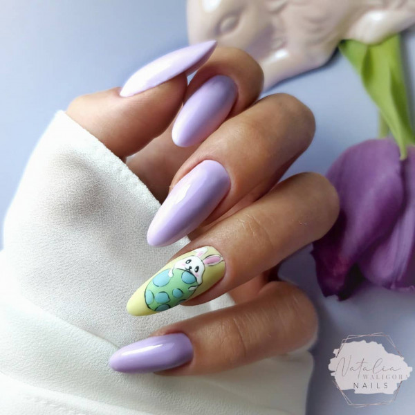 Paznokcie Pastelowe wielkanocne paznokcie