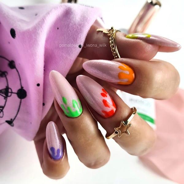 Paznokcie Spływające kolorki