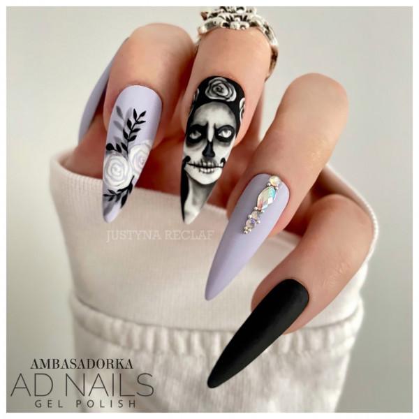 Paznokcie Upiorna dama - paznokcie na halloween