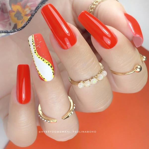 Paznokcie Neonowy pomarańcz ❤️