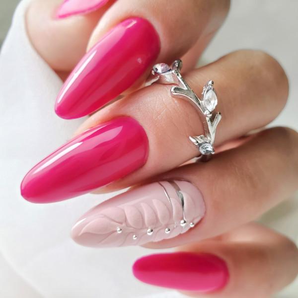 Paznokcie Różowe migdałki - różowe paznokcie