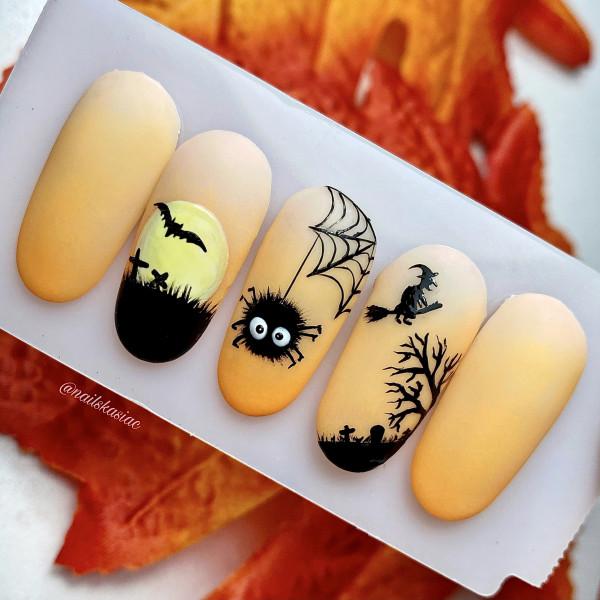 Paznokcie Paznokcie na Halloween