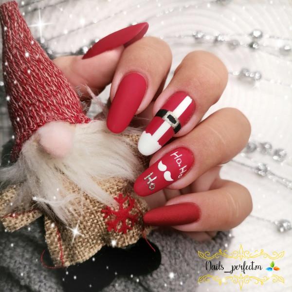 Paznokcie Mikołaj 🎅