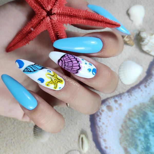 Paznokcie Morskie paznokcie 🌊