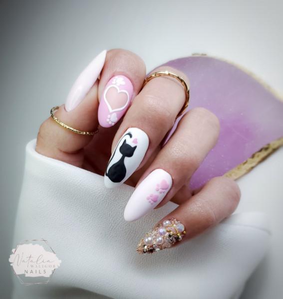 Paznokcie Walentynkowe manicure