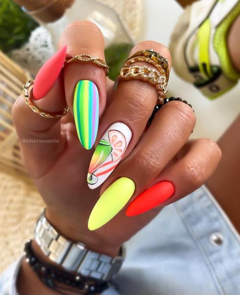 Paznokcie Neonowe paznokcie