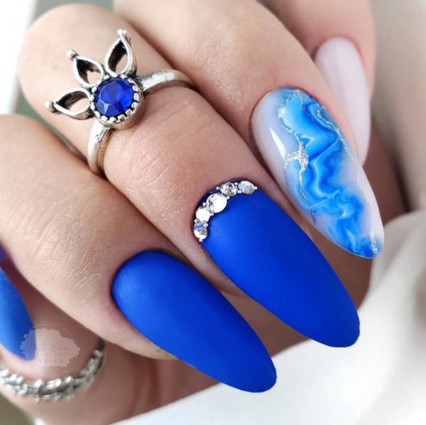 Paznokcie Kobaltowe paznokcie