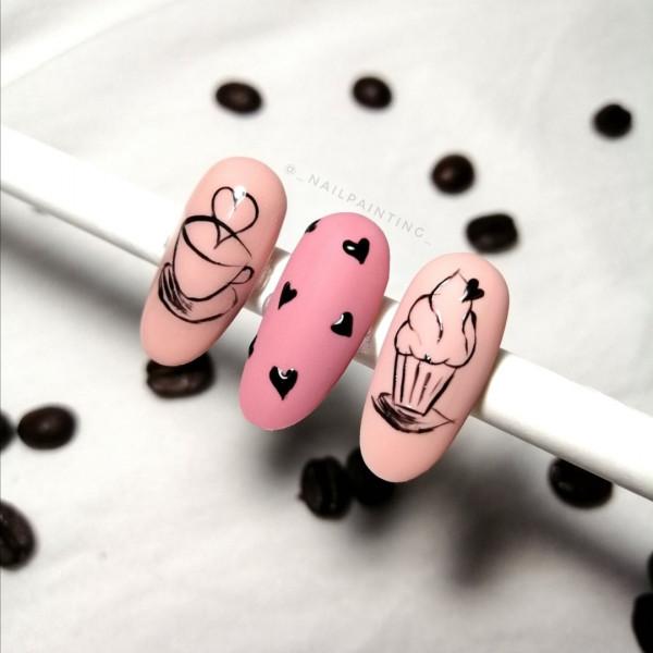 Paznokcie Coffee Nails