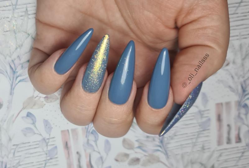 Paznokcie Niebiesko mi ❤