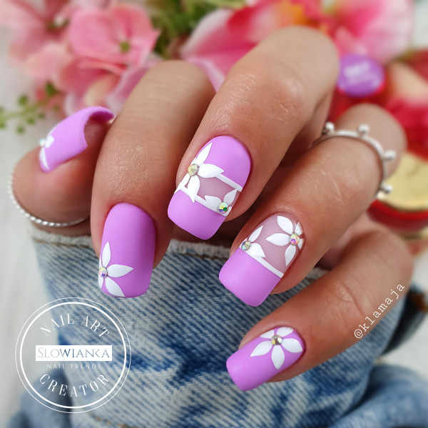 Paznokcie Purple love