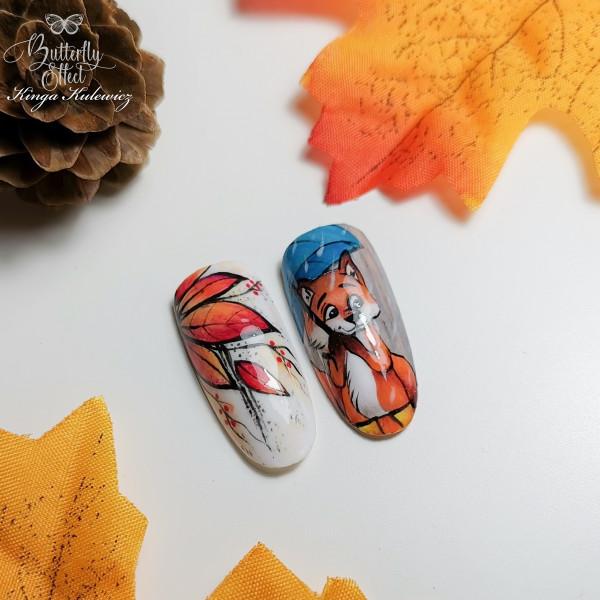Paznokcie Jesienny lisek