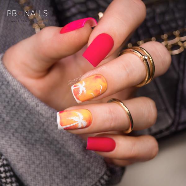 Paznokcie Wakacyjne palemki na paznokciach