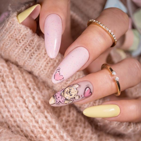 Paznokcie Walentynkowe paznokcie bajkowe