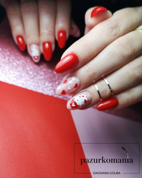 Paznokcie Walentynkowe babeczki