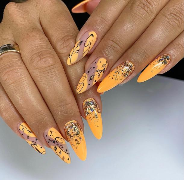 Paznokcie Pomarańczowe paznokcie