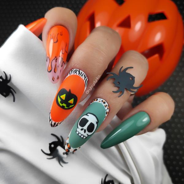 Paznokcie Halloween 🦇paznokcie na halloween
