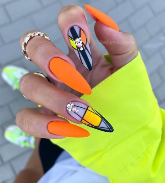 Paznokcie Pomarańczowe paznokcie ombre