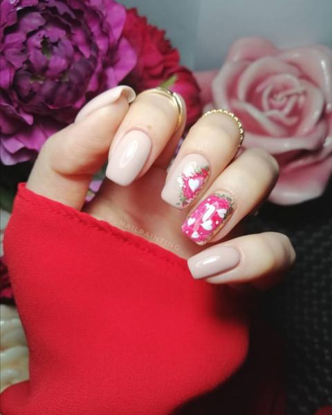 Paznokcie Walentynkowe serduszka
