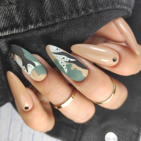 Paznokcie Moro inaczej 😁Efekt moro na paznokciach