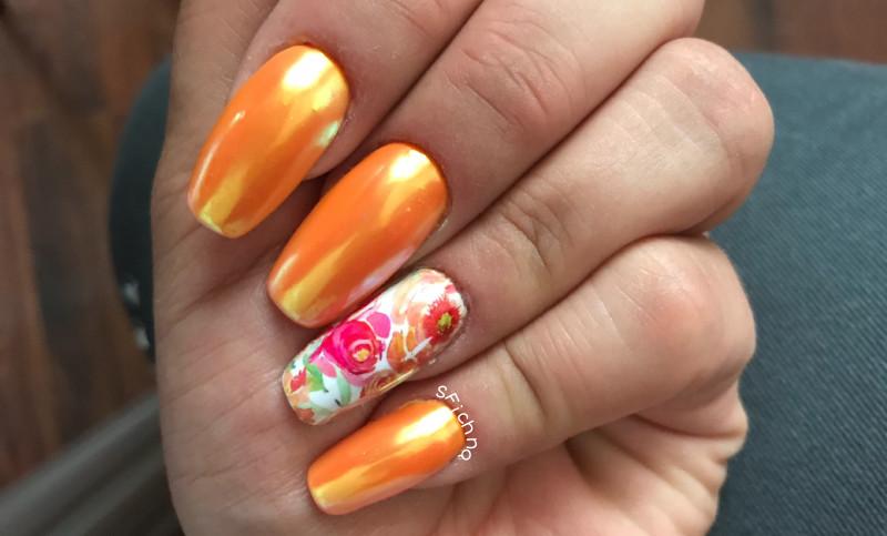 Paznokcie Pomarańczowo mi.