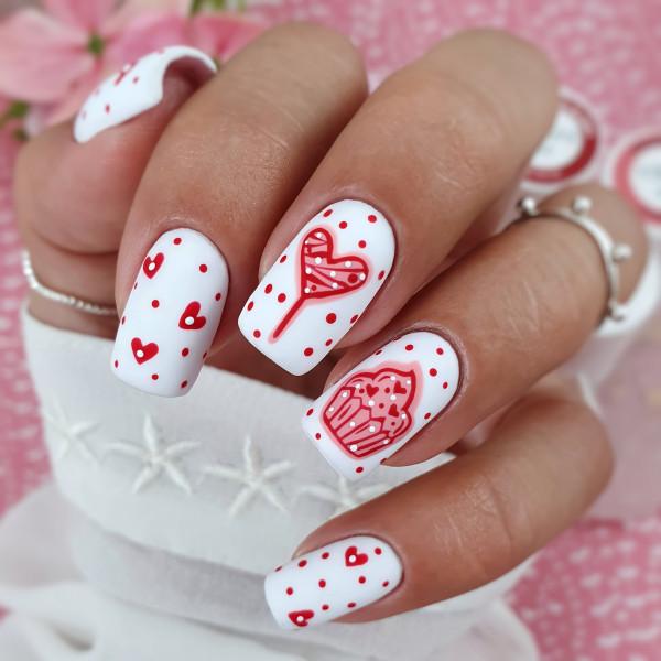 Paznokcie Candy love -paznokcie na walentynki