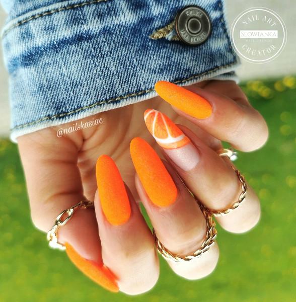 Paznokcie Orange nails