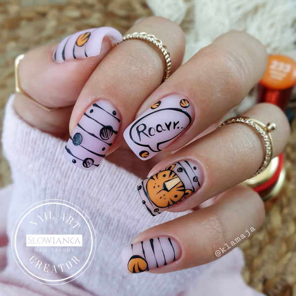 Little tiger - tygrysek na paznokciach