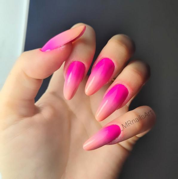 Paznokcie Neonowe ombre