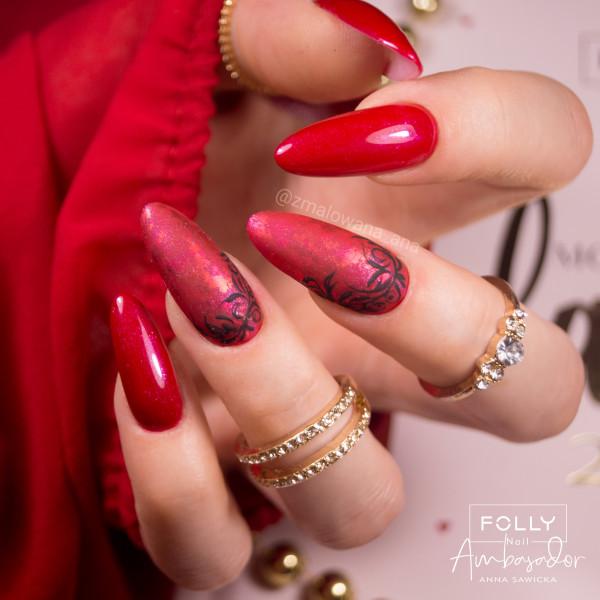 Paznokcie Eleganckie czerwone paznokcie
