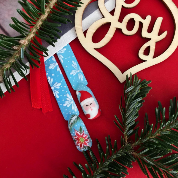 Paznokcie Święty Mikołaj