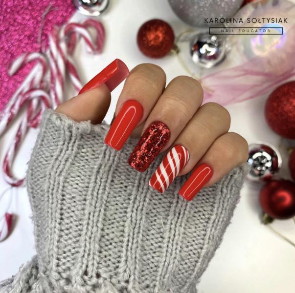 Paznokcie Świąteczne mani