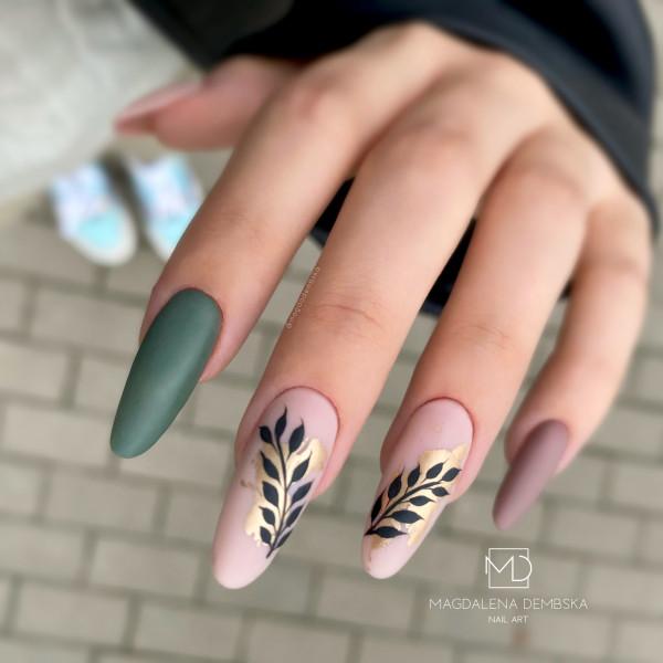 Paznokcie Jesienne listki na paznokciach