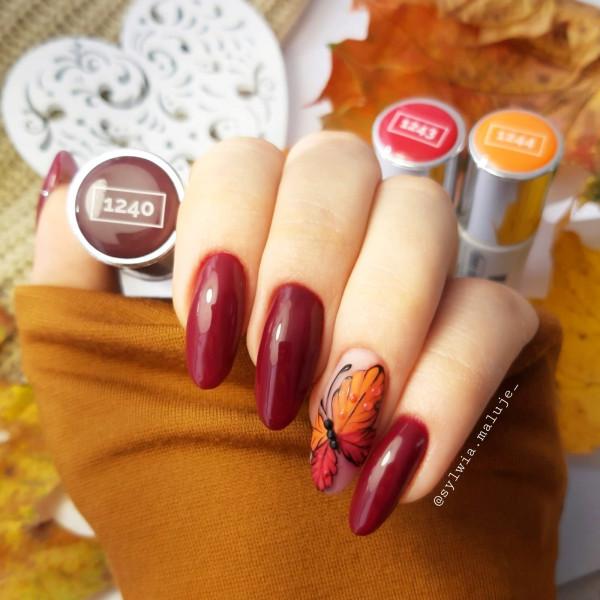 Paznokcie Jesienny motylek