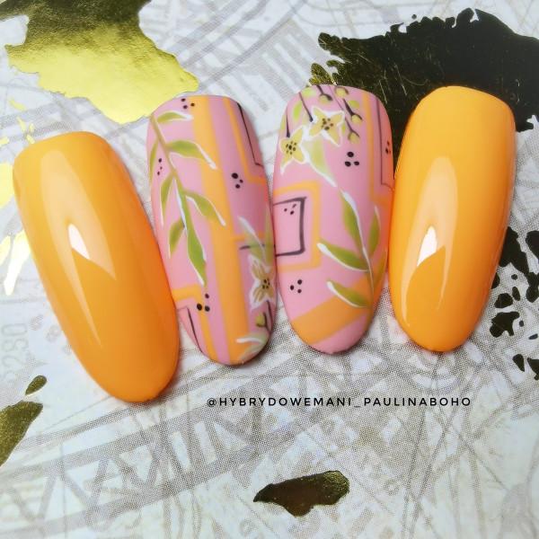 Paznokcie Neonowy pomarańcz wariacje