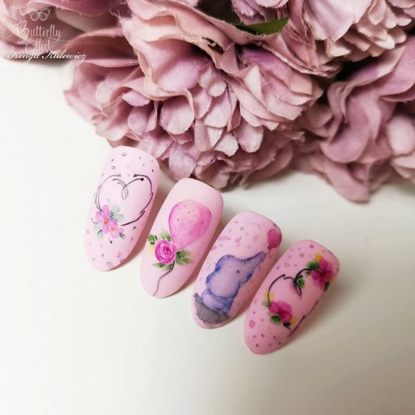 Paznokcie Słodka akwarela na paznokciach