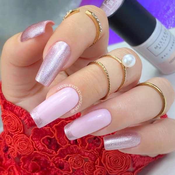 Paznokcie Ślubne delikatne paznokcie