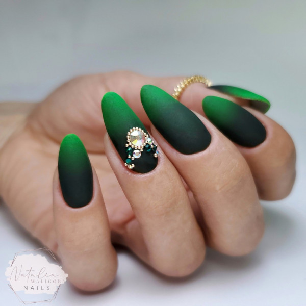 Paznokcie Zielone ombre