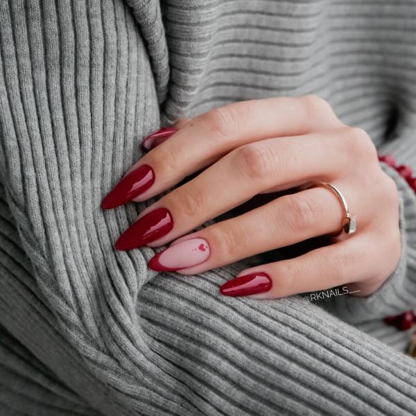 Paznokcie Glam Red