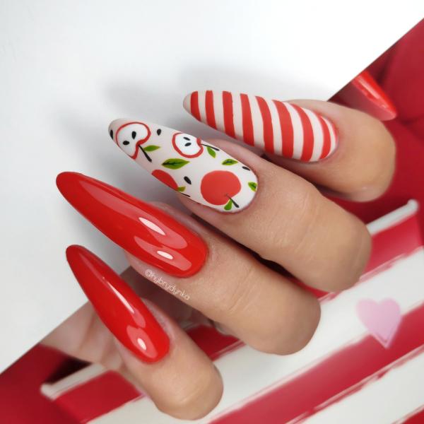 Paznokcie Jabłuszka 🍎 na paznokciach