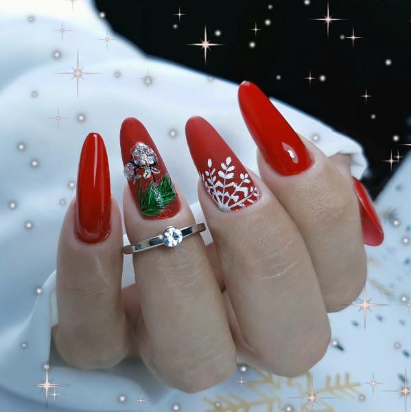 Paznokcie Świąteczna inspiracja