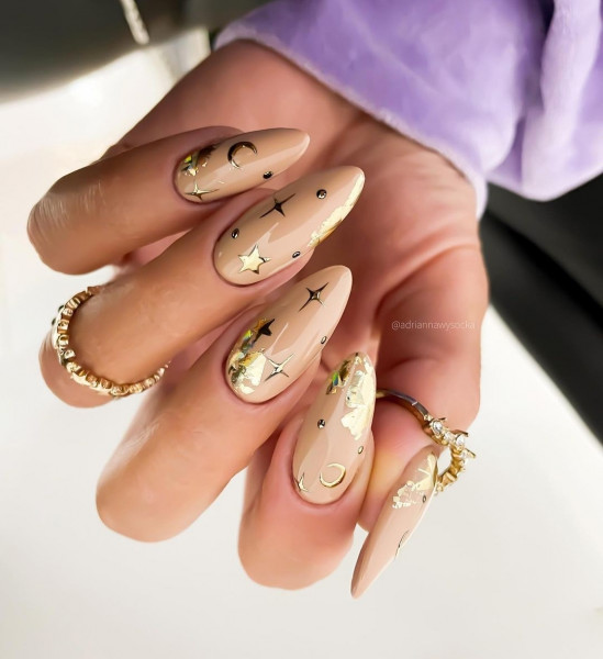 Paznokcie Nude nails
