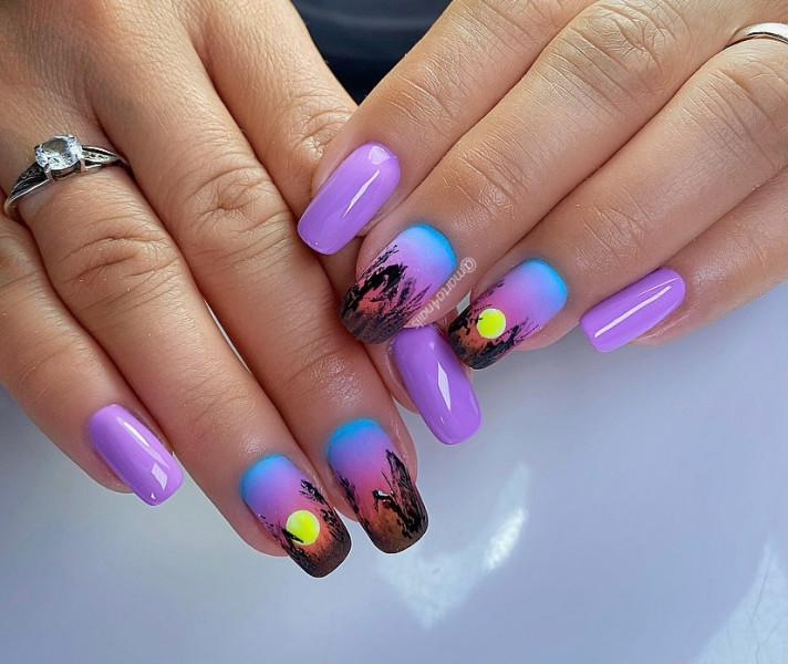 Paznokcie Pejzaż na paznokciach