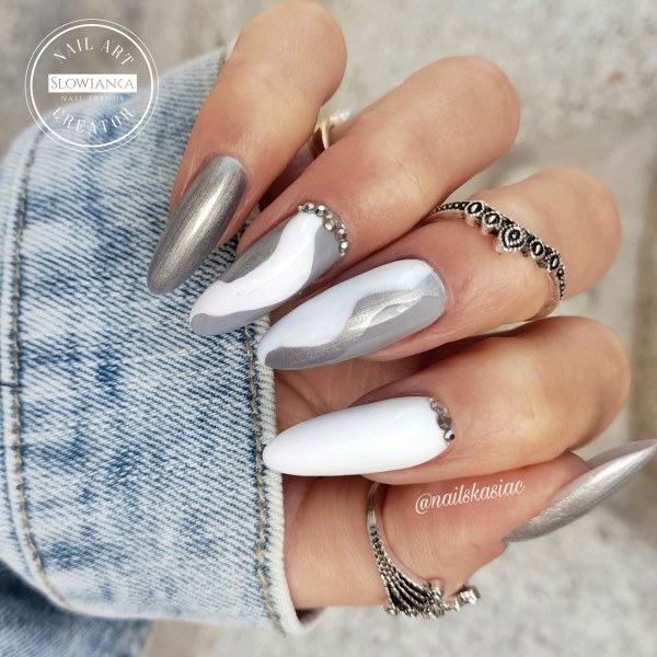 Paznokcie Nails Stone Gray