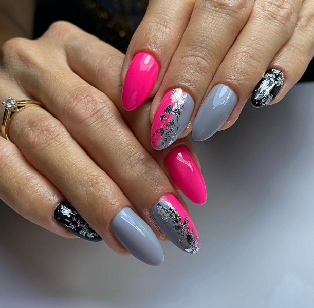 Paznokcie Różowo szare paznokcie
