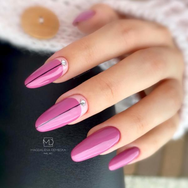 Paznokcie Jesienne fiolety na paznokciach