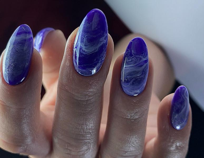 Paznokcie Niebieskie paznokcie