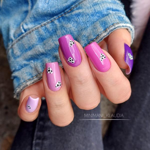Paznokcie Krówki 🐄 wzorki na paznokciach