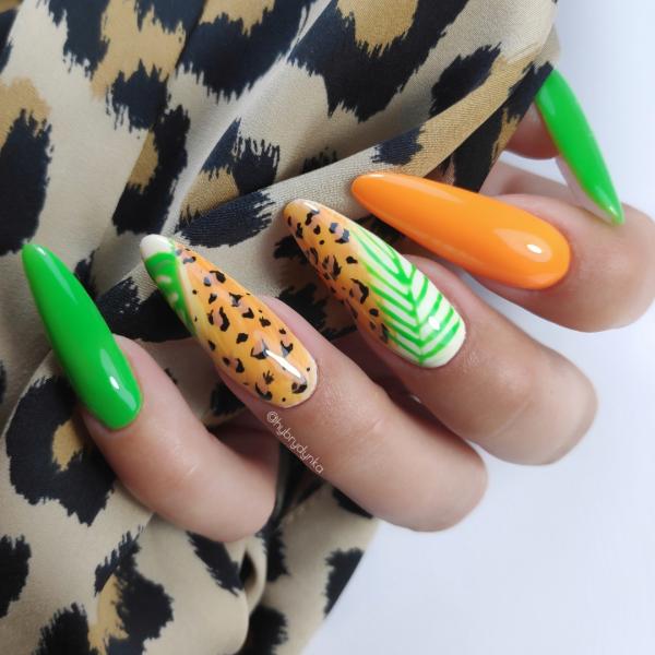 Paznokcie Jungle nails